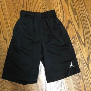 Air Jordan Nike black basketball shorts S